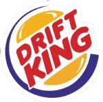 Retro DRIFT KING Funny Parody JDM Drift Look Vinyl Car Sticker Bomb Decal 100x97mm